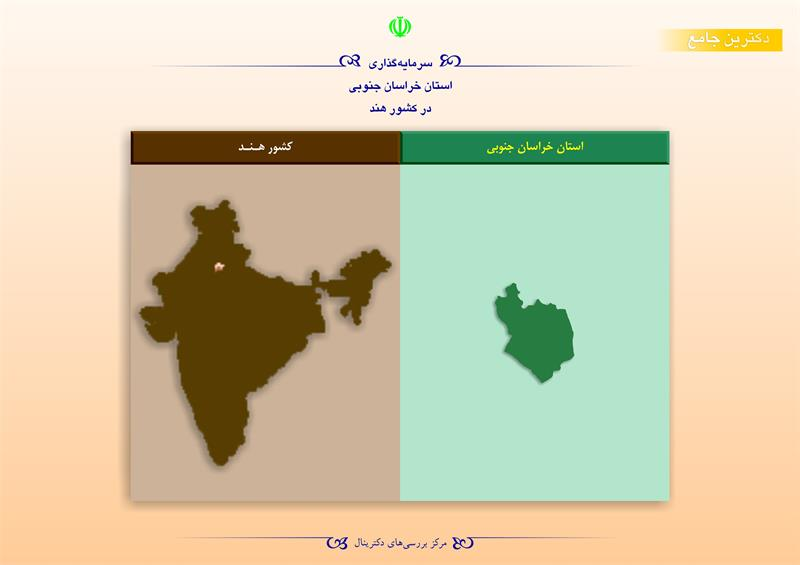سرمایهگذاری استان خراسان جنوبی در کشور هند