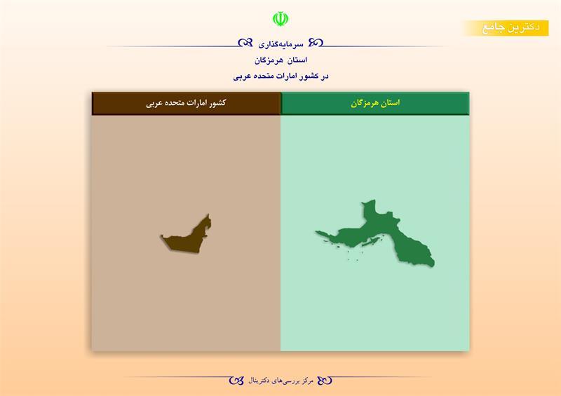 سرمایهگذاری استان هرمزگان در کشور امارات متحده عربی