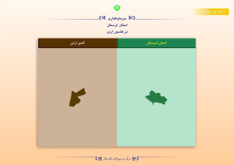سرمایهگذاری استان لرستان در کشور اردن