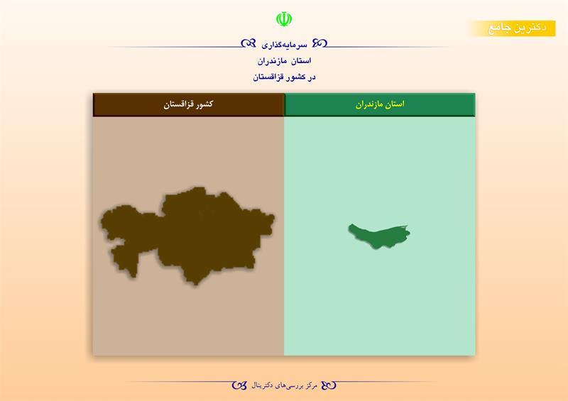 سرمایهگذاری استان مازندران در کشور قزاقستان