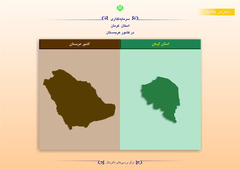 سرمایهگذاری استان کرمان در کشور عربستان