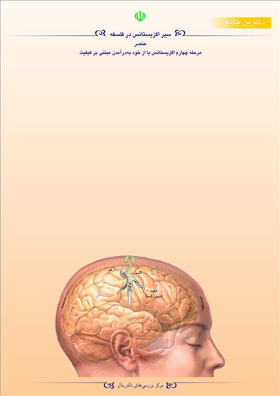 سیر اگزیستانس در فلسفه عنصر مرحله چهارم اگزیستانس یا از خود به در آمدن مبتنی بر کیفیت