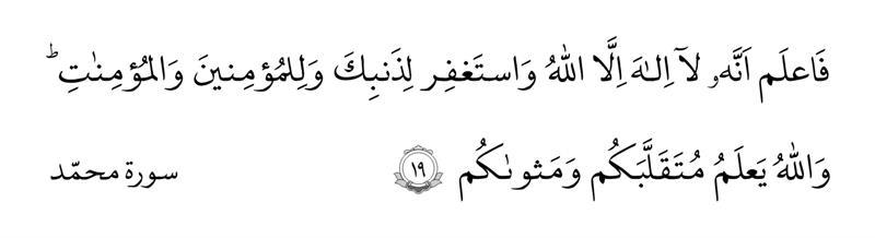 سوره محمد آیه ۱۹